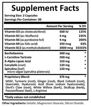 Nerveology ingredients